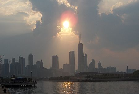 Sun and Clouds over Chicago