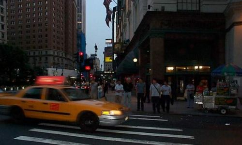 [Photo of New York City street]