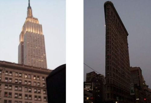 [Photo of Empire State Building and Flatiron Building]