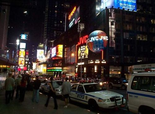 [Photo of Police Vehicule parked at Times Square]