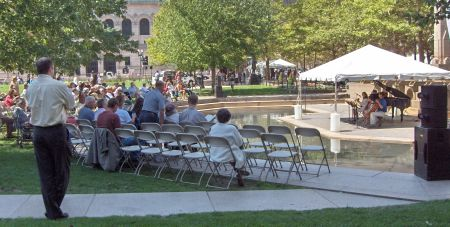 Photo: Copley Square fountain concert