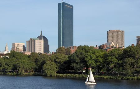 Photo: Hancock Tower seen from Charles River