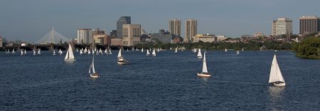 Photo: Sailboats on Charles River