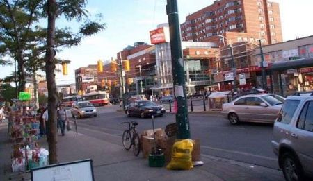 Shot of Spadina Street