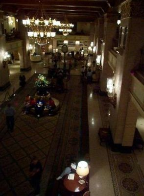 Dark photo of the Royal York lobby