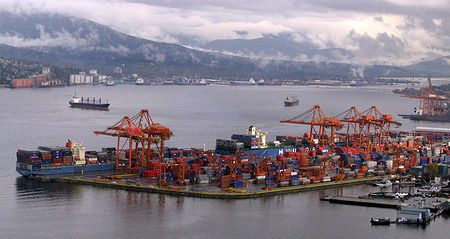 Vancouver Port as seen from Lookout