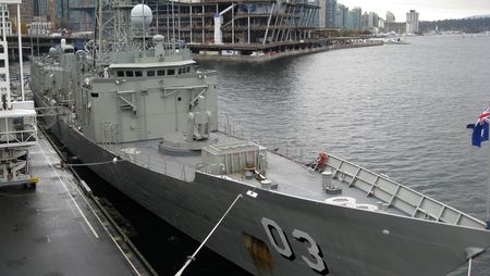 HMAS Sydney docked at Canada Place