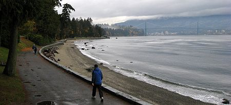 Seawall walkway at Stanley Park