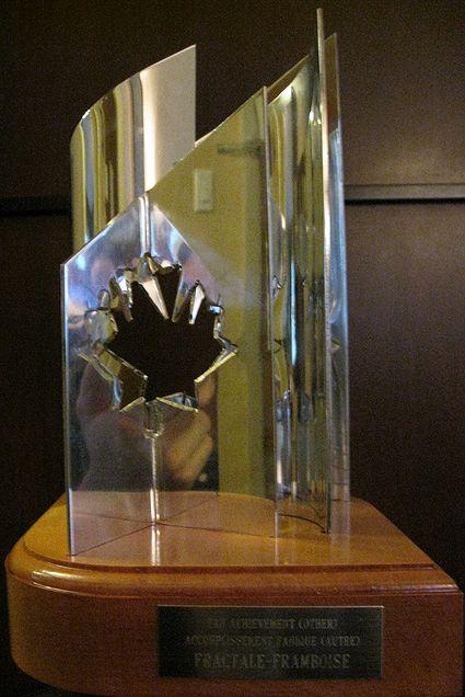 Photo: Prix Aurora Award 2007, Categorie Accomplissement fanique (autre), décerné à Fractale Framboise