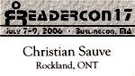 Illustration: Badge Readercon 2006