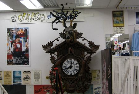 Photo d'horloge-coucou avec tete d'orignal