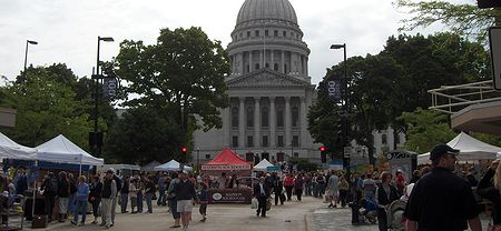 Photo: Madison, Capitole, Farmer's Market