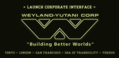 Gag, Ecran un: Accueil de l'intranet Weyland-Yutani