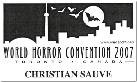 Badge: World Horror Convention 2007